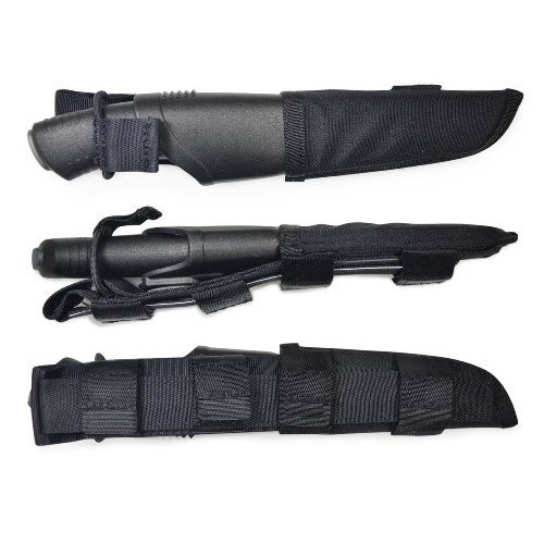 Cutit Bushcraft Expert cu teaca Tactical Black,sistem Molle